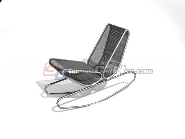 Metal Wire Lounge Chair 3d rendering