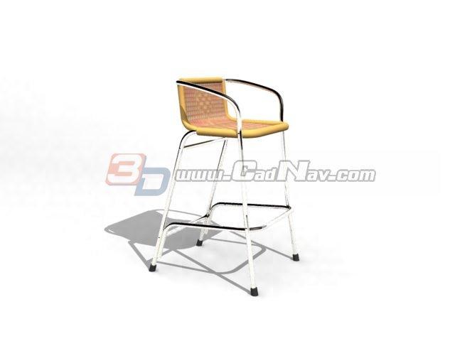 Stool Armchair 3d rendering