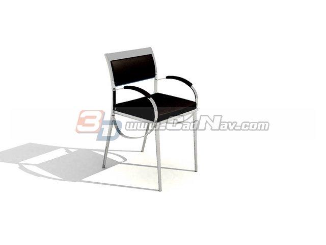 Metal PU Dining Chair 3d rendering