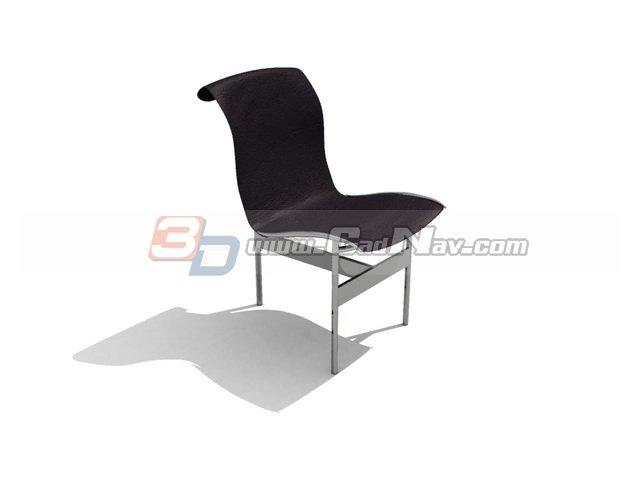 Three-legged Dining Chair 3d rendering