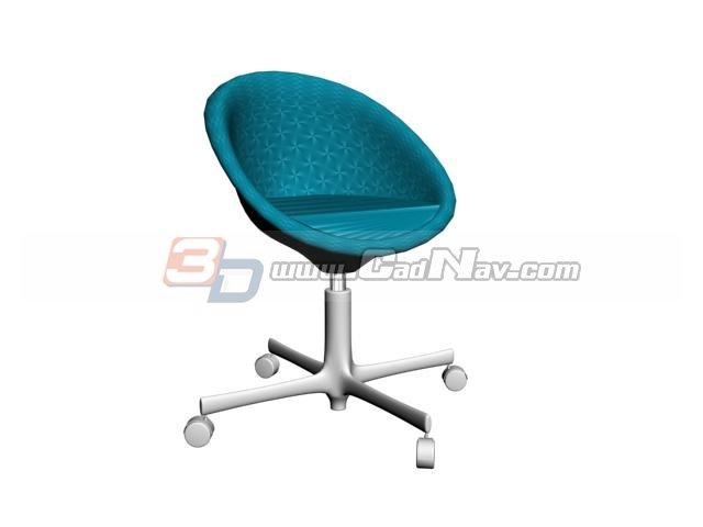 Tulip bar chair 3d rendering