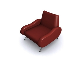 Red Sofa chair 3d model preview