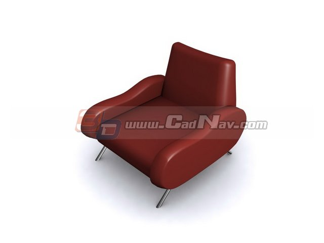 Red Sofa chair 3d rendering