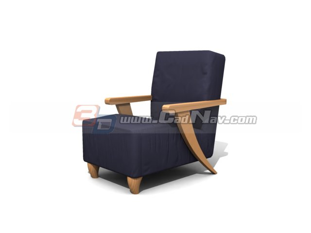Hotel Single sofa 3d rendering