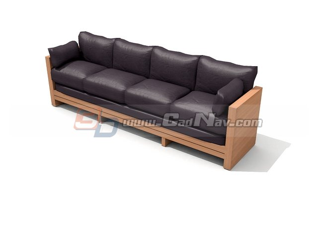 Office cushion couch 3d rendering