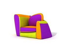 Children cushion couch 3d model preview