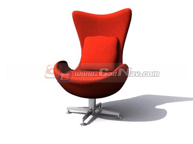 Fabric Tulip Chair 3d rendering