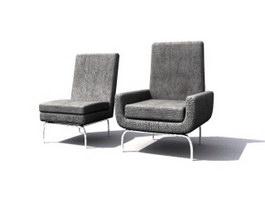Parlour Sofa Chair 3d model preview