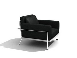 Lounge single sofa chair 3d model preview