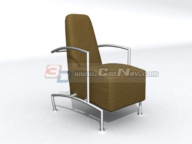 High back sofa chair 3d rendering