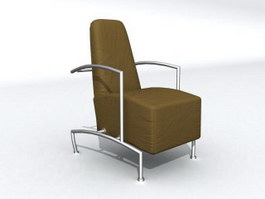 High back sofa chair 3d preview