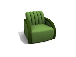 Coffee shop sofa chair 3d preview