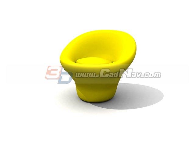Children Mushroom Chair 3d rendering