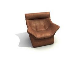 Upholstered sofa 3d model preview
