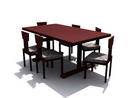 Solid wood Dining Room Sets 3d model preview
