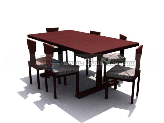 Solid wood Dining Room Sets 3d rendering