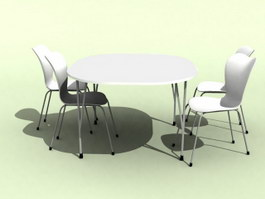 Garden Picnic Table and Chairs 3d model preview