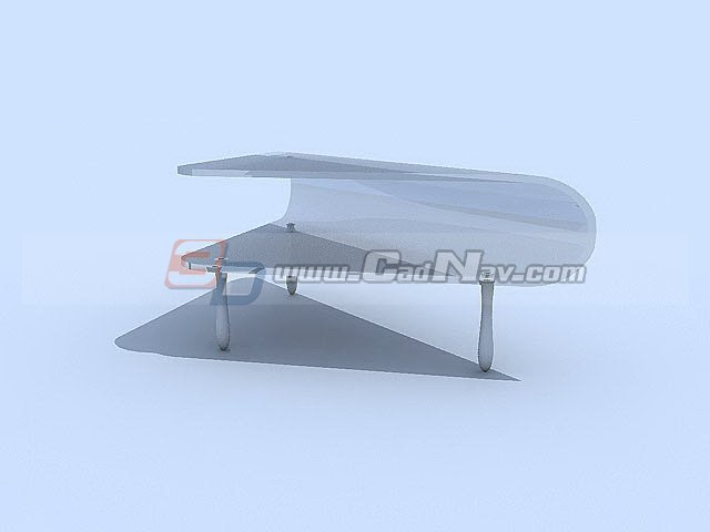 Tempered glass Coffee Table 3d rendering