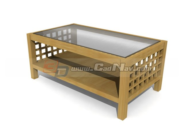 Antique coffee table 3d rendering