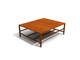 Wood frame coffee table 3d preview