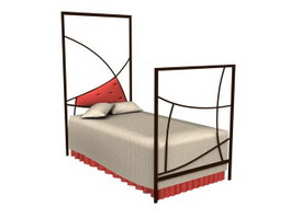Double Wall Children Bed 3d preview