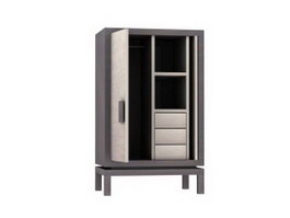 Office Filing Cabinet 3d model preview