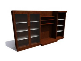 Office Filing Cabinet Wall units 3d preview