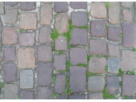 Ancient brick paving texture