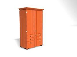 Bedroom Wooden Wardrobes 3d model preview