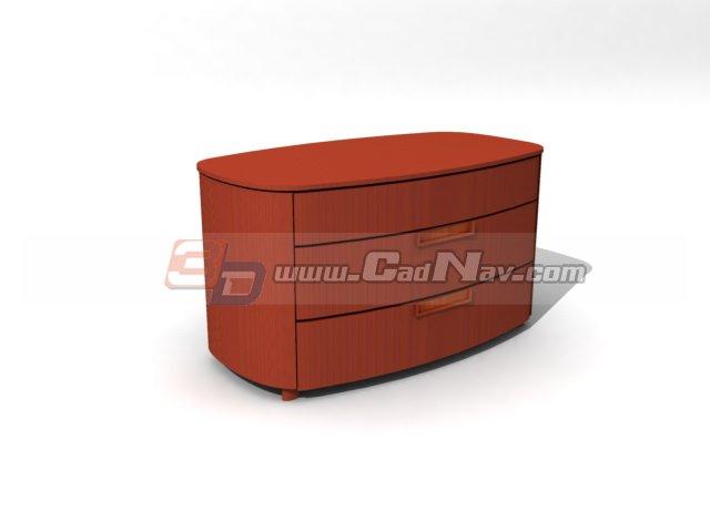 TV bench cabinet 3d rendering