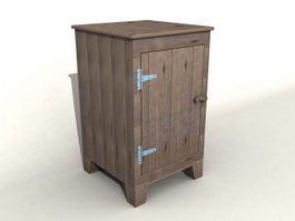 Wooden Storage Cabinet 3d preview