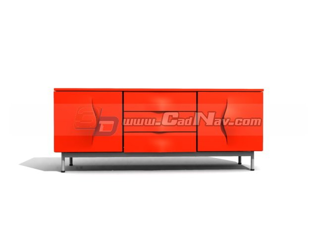 Living room television cabinets 3d rendering