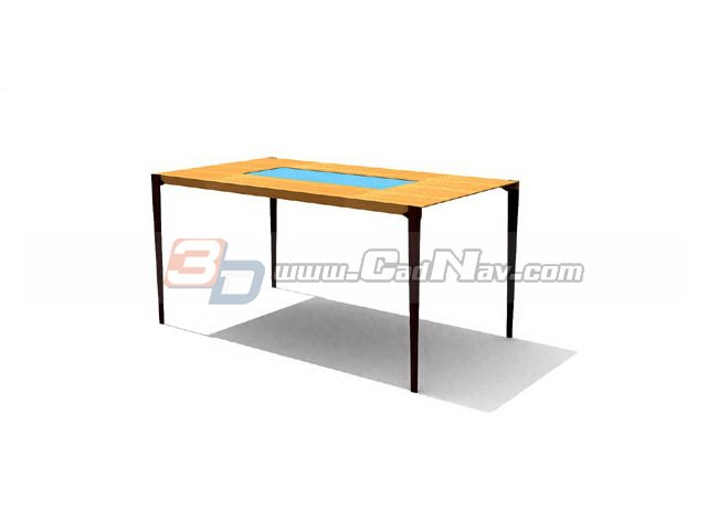 Simple coffee table 3d rendering