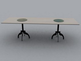 Refectory table 3d preview