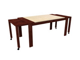 Extension Dining Table 3d model preview