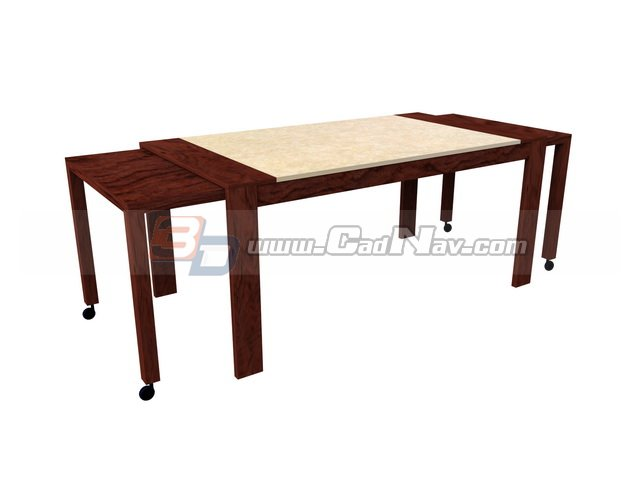 Extension Dining Table 3d rendering