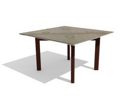 Printed square table 3d preview