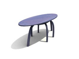 Bar oval-cocktail table 3d preview