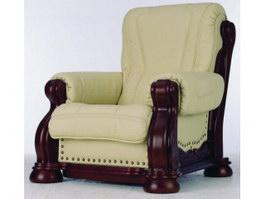 KLER Furniture antique single sofa 3d model preview
