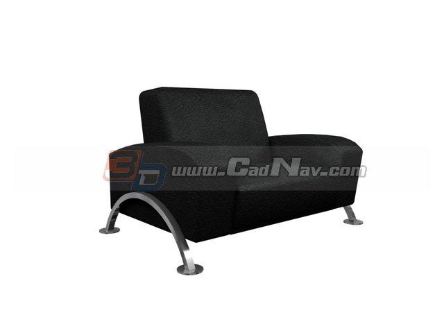 Office PU armchair 3d rendering