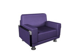 Home office sofa 3d model preview