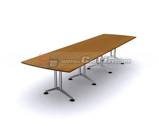 Rectangular conference table 3d rendering