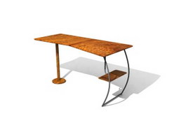 Simple office table 3d model preview