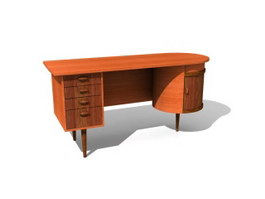 Home office table 3d model preview