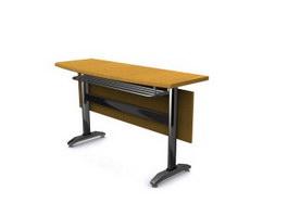 Folding training desk 3d preview