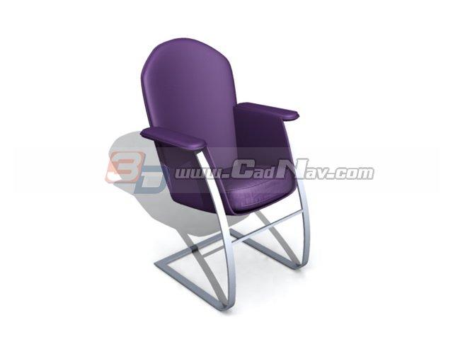 High back armchair 3d rendering