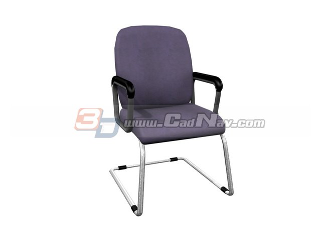 Cantilever Office Conference Chair 3d rendering