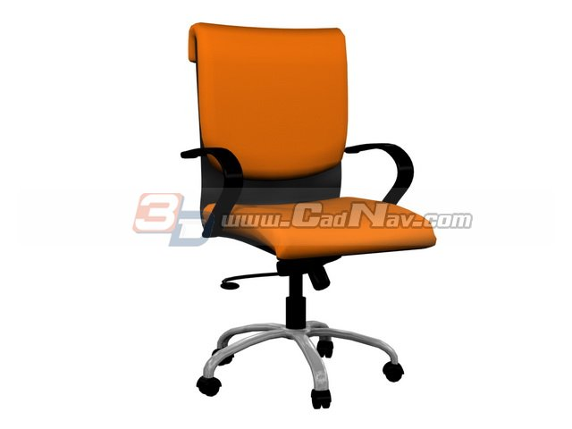 Office Manager Swivel Chair 3d rendering