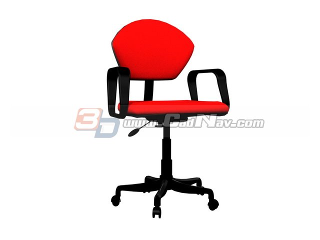Office Swivel Lift Chair 3d rendering