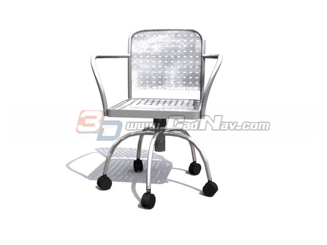 Office Wire Chair 3d rendering
